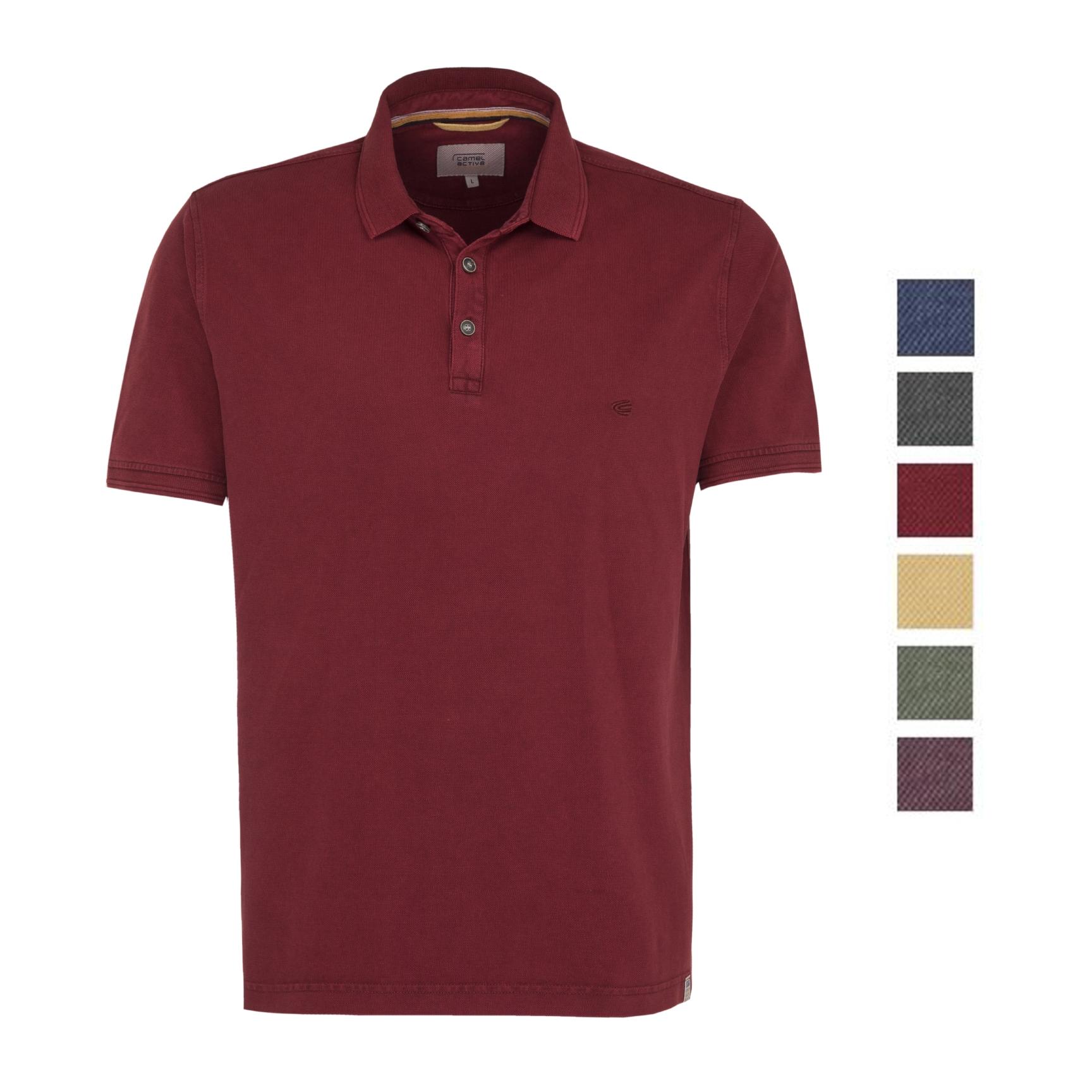 Camel-Active-Herren-Shirt-Poloshirt-Pique-Regular-Fit-NEU