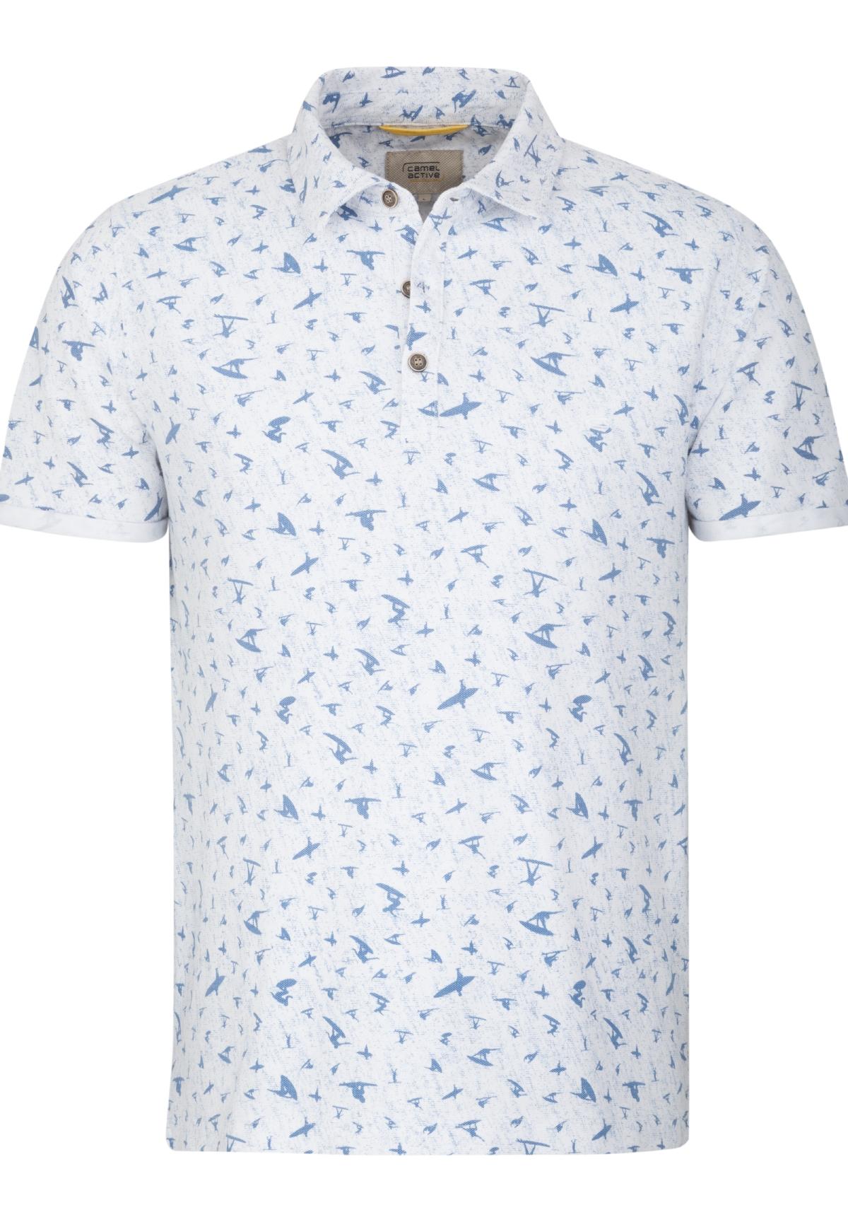 Camel-Active-Herren-Shirt-Poloshirt-Pique-Regular-Fit-NEU Indexbild 7