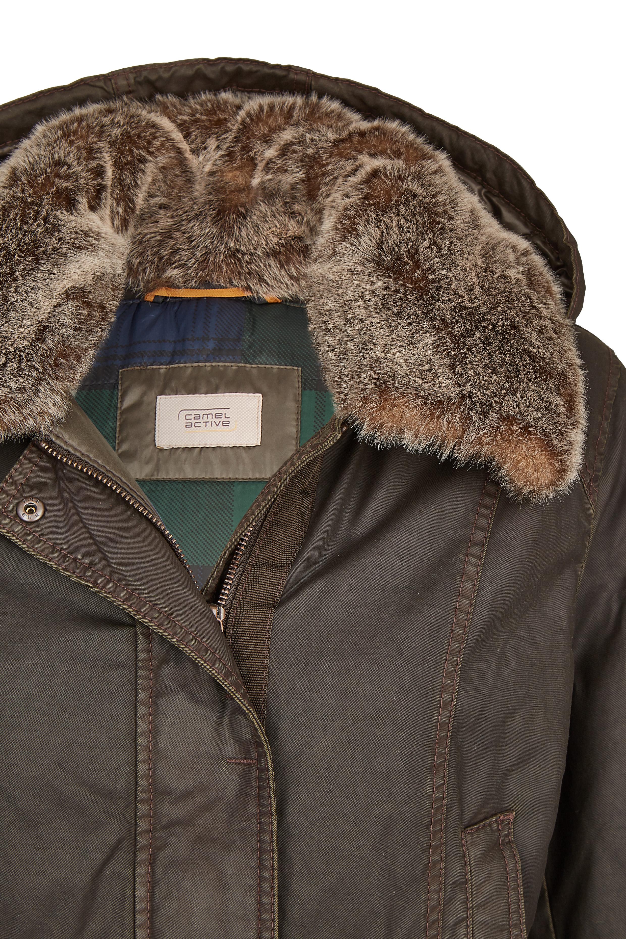 Details zu camel active Damen Kurzparka Winterjacke Carbon braun 320850 8587 25 NEU