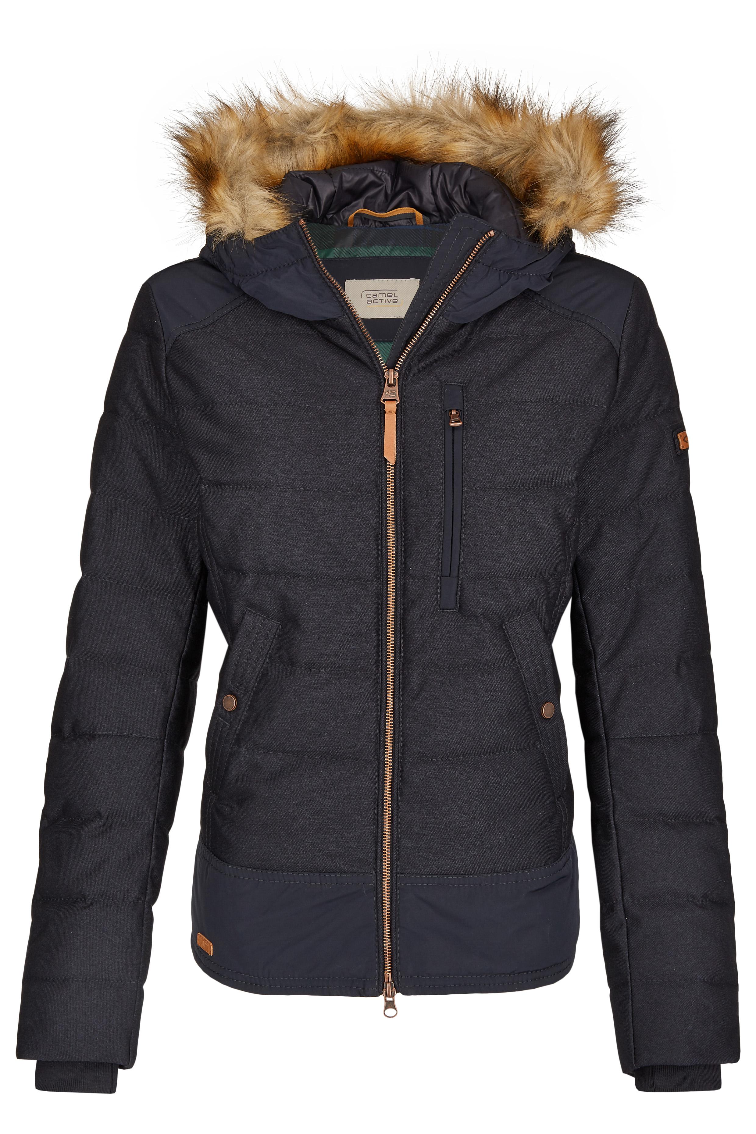 Camel Active Womens Blouson Jacket in Wool Look Winter Jacket Blue 330830 8+04 40 NEW | eBay